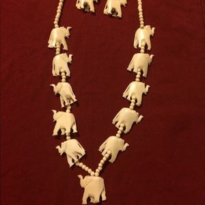 Jewelry - Good Luck Elephant Necklace & Earring Set